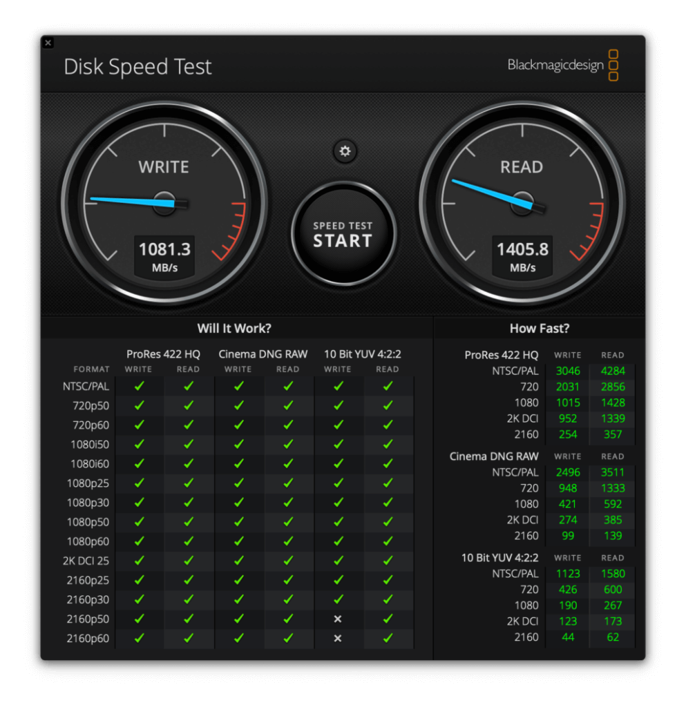 SSD性能チェック